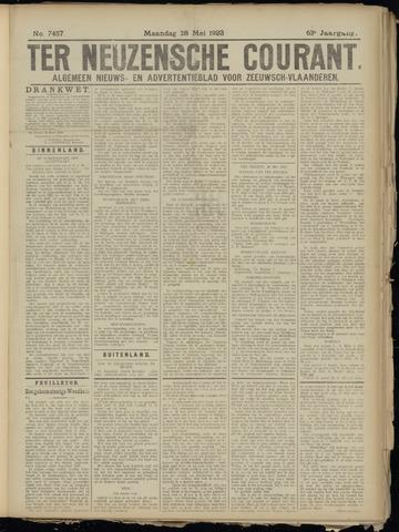 Ter Neuzensche Courant. Algemeen Nieuws- en Advertentieblad voor Zeeuwsch-Vlaanderen / Neuzensche Courant ... (idem) / (Algemeen) nieuws en advertentieblad voor Zeeuwsch-Vlaanderen 1923-05-28
