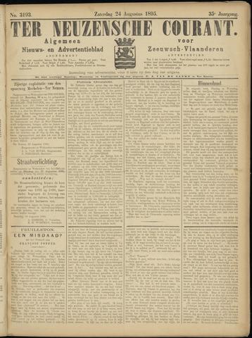 Ter Neuzensche Courant. Algemeen Nieuws- en Advertentieblad voor Zeeuwsch-Vlaanderen / Neuzensche Courant ... (idem) / (Algemeen) nieuws en advertentieblad voor Zeeuwsch-Vlaanderen 1895-08-24