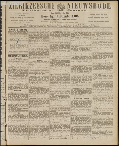 Zierikzeesche Nieuwsbode 1902-12-11