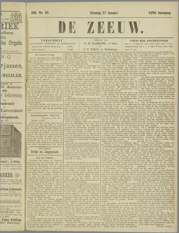 De Zeeuw. Christelijk-historisch nieuwsblad voor Zeeland 1891-01-27