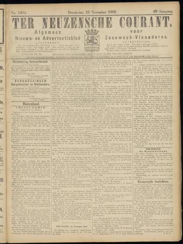 Ter Neuzensche Courant. Algemeen Nieuws- en Advertentieblad voor Zeeuwsch-Vlaanderen / Neuzensche Courant ... (idem) / (Algemeen) nieuws en advertentieblad voor Zeeuwsch-Vlaanderen 1909-11-25