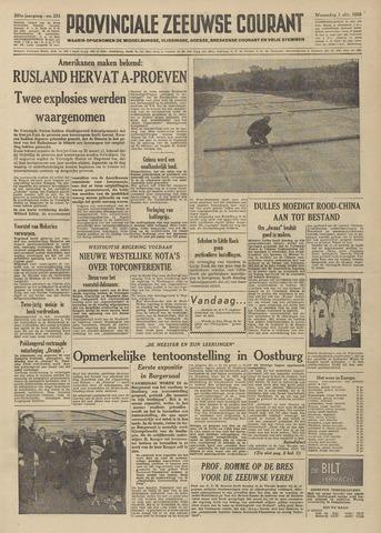 Provinciale Zeeuwse Courant 1958-10-01