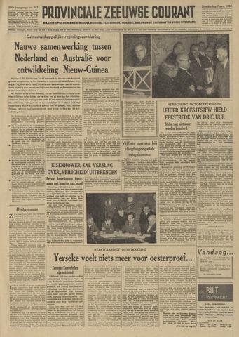 Provinciale Zeeuwse Courant 1957-11-07