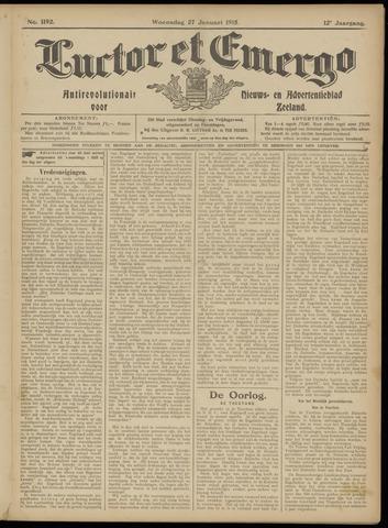 Luctor et Emergo. Antirevolutionair nieuws- en advertentieblad voor Zeeland / Zeeuwsch-Vlaanderen. Orgaan ter verspreiding van de christelijke beginselen in Zeeuwsch-Vlaanderen 1915-01-27