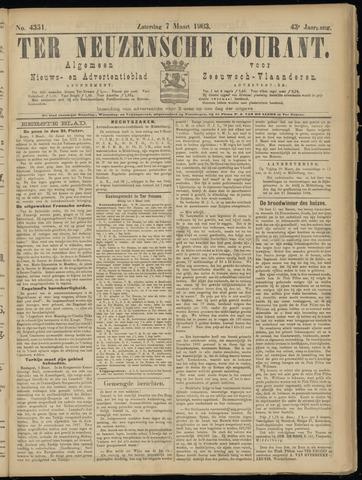 Ter Neuzensche Courant. Algemeen Nieuws- en Advertentieblad voor Zeeuwsch-Vlaanderen / Neuzensche Courant ... (idem) / (Algemeen) nieuws en advertentieblad voor Zeeuwsch-Vlaanderen 1903-03-07