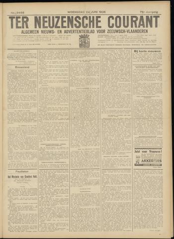 Ter Neuzensche Courant. Algemeen Nieuws- en Advertentieblad voor Zeeuwsch-Vlaanderen / Neuzensche Courant ... (idem) / (Algemeen) nieuws en advertentieblad voor Zeeuwsch-Vlaanderen 1936-06-24