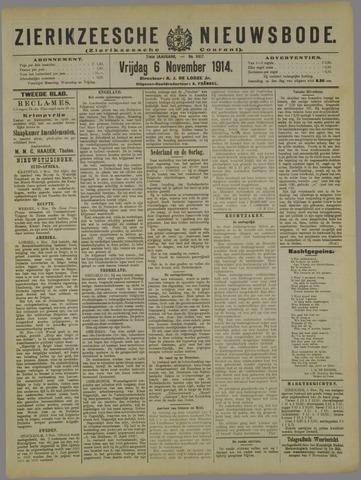 Zierikzeesche Nieuwsbode 1914-11-06
