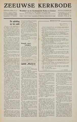 Zeeuwsche kerkbode, weekblad gewijd aan de belangen der gereformeerde kerken/ Zeeuwsch kerkblad 1957-11-08