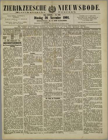 Zierikzeesche Nieuwsbode 1901-11-26