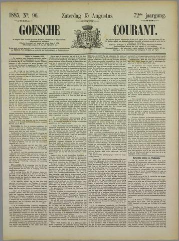 Goessche Courant 1885-08-15
