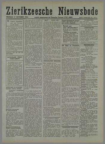 Zierikzeesche Nieuwsbode 1941-10-05