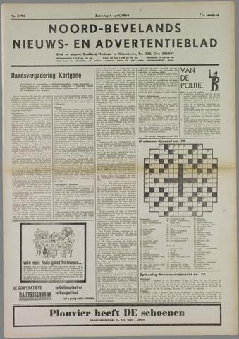 Noord-Bevelands Nieuws- en advertentieblad 1968-04-06