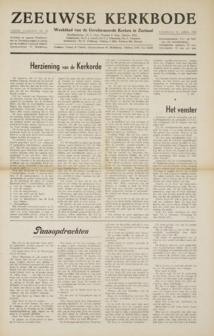 Zeeuwsche kerkbode, weekblad gewijd aan de belangen der gereformeerde kerken/ Zeeuwsch kerkblad 1955-04-15
