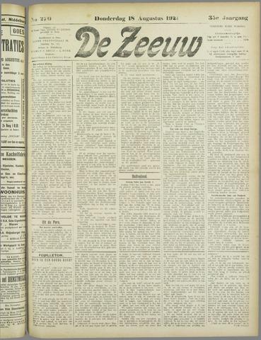 De Zeeuw. Christelijk-historisch nieuwsblad voor Zeeland 1921-08-18