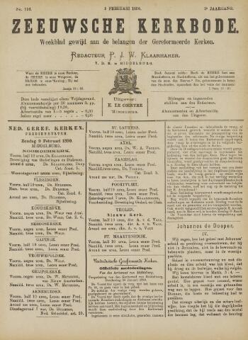 Zeeuwsche kerkbode, weekblad gewijd aan de belangen der gereformeerde kerken/ Zeeuwsch kerkblad 1890-02-08