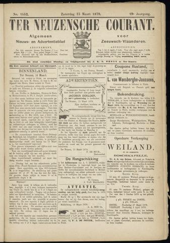 Ter Neuzensche Courant. Algemeen Nieuws- en Advertentieblad voor Zeeuwsch-Vlaanderen / Neuzensche Courant ... (idem) / (Algemeen) nieuws en advertentieblad voor Zeeuwsch-Vlaanderen 1879-03-15