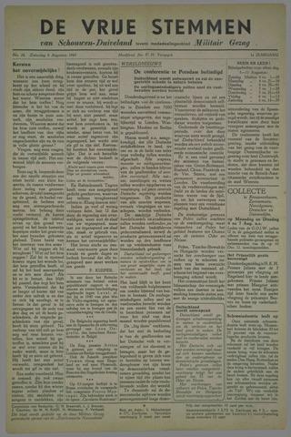 Vrije Stemmen van Schouwen-Duiveland, tevens mededeelingenblad Militair Gezag 1945-08-04