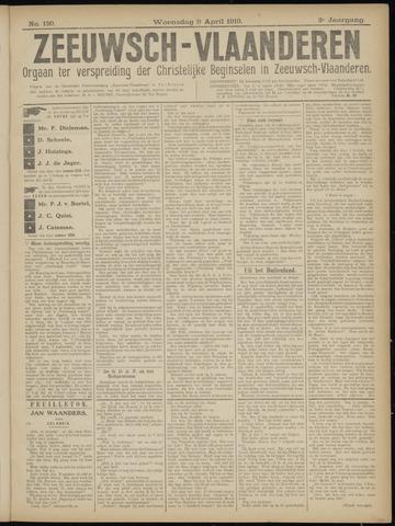 Luctor et Emergo. Antirevolutionair nieuws- en advertentieblad voor Zeeland / Zeeuwsch-Vlaanderen. Orgaan ter verspreiding van de christelijke beginselen in Zeeuwsch-Vlaanderen 1919-04-09
