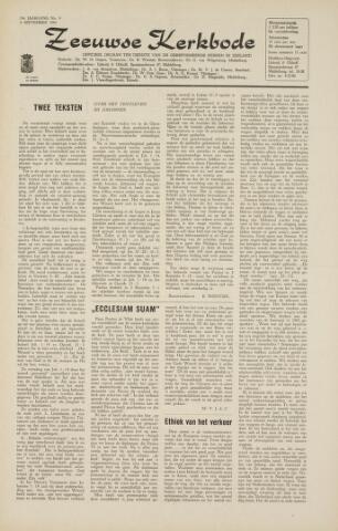 Zeeuwsche kerkbode, weekblad gewijd aan de belangen der gereformeerde kerken/ Zeeuwsch kerkblad 1964-09-04