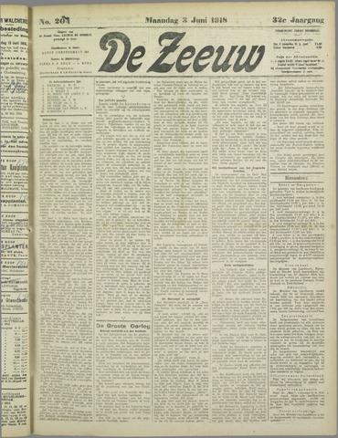 De Zeeuw. Christelijk-historisch nieuwsblad voor Zeeland 1918-06-03