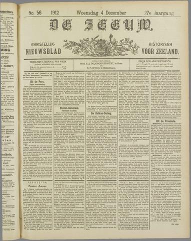 De Zeeuw. Christelijk-historisch nieuwsblad voor Zeeland 1912-12-04