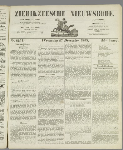 Zierikzeesche Nieuwsbode 1865-12-27