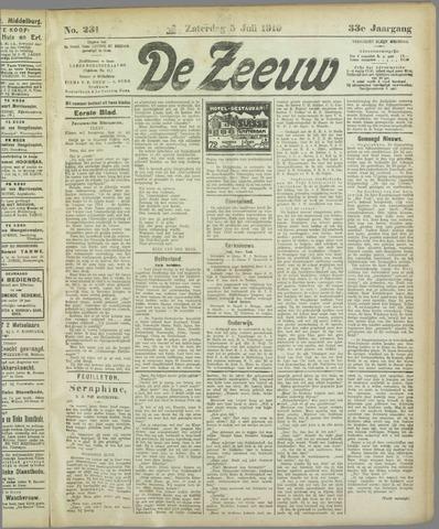 De Zeeuw. Christelijk-historisch nieuwsblad voor Zeeland 1919-07-05