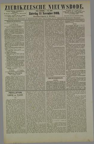 Zierikzeesche Nieuwsbode 1893-11-11