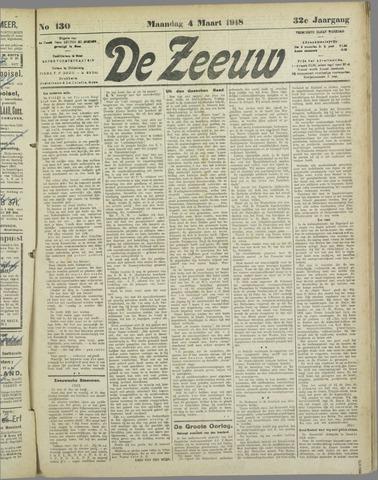 De Zeeuw. Christelijk-historisch nieuwsblad voor Zeeland 1918-03-04