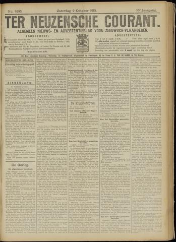Ter Neuzensche Courant. Algemeen Nieuws- en Advertentieblad voor Zeeuwsch-Vlaanderen / Neuzensche Courant ... (idem) / (Algemeen) nieuws en advertentieblad voor Zeeuwsch-Vlaanderen 1915-10-09
