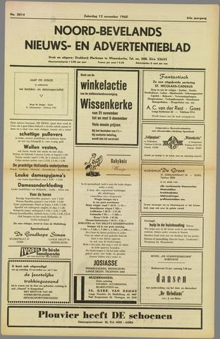 Noord-Bevelands Nieuws- en advertentieblad 1960-11-12