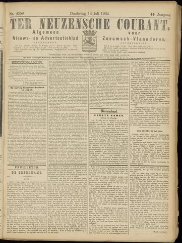 Ter Neuzensche Courant. Algemeen Nieuws- en Advertentieblad voor Zeeuwsch-Vlaanderen / Neuzensche Courant ... (idem) / (Algemeen) nieuws en advertentieblad voor Zeeuwsch-Vlaanderen 1904-07-14
