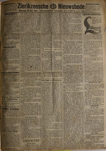Zierikzeesche Nieuwsbode 1921-10-24