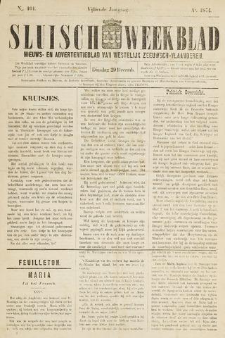 Sluisch Weekblad. Nieuws- en advertentieblad voor Westelijk Zeeuwsch-Vlaanderen 1874-12-29