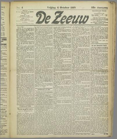 De Zeeuw. Christelijk-historisch nieuwsblad voor Zeeland 1918-10-04