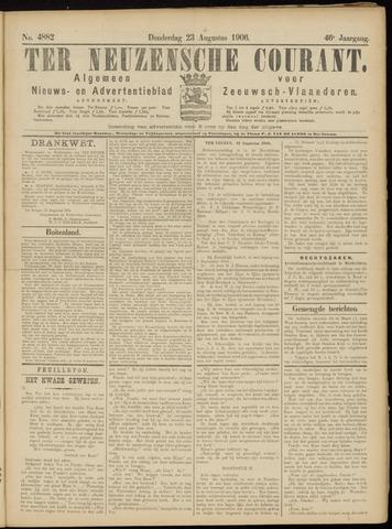 Ter Neuzensche Courant. Algemeen Nieuws- en Advertentieblad voor Zeeuwsch-Vlaanderen / Neuzensche Courant ... (idem) / (Algemeen) nieuws en advertentieblad voor Zeeuwsch-Vlaanderen 1906-08-23