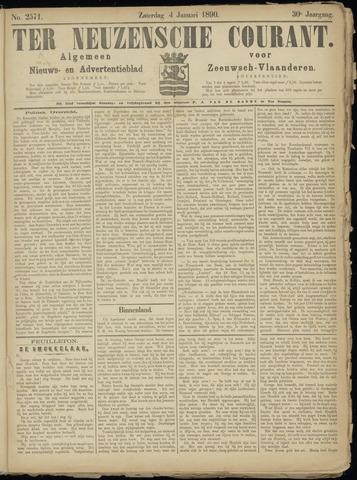 Ter Neuzensche Courant. Algemeen Nieuws- en Advertentieblad voor Zeeuwsch-Vlaanderen / Neuzensche Courant ... (idem) / (Algemeen) nieuws en advertentieblad voor Zeeuwsch-Vlaanderen 1890-01-04