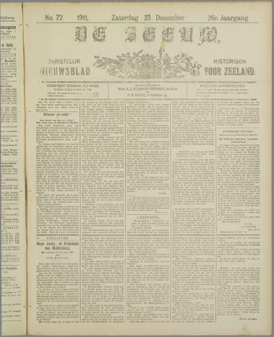 De Zeeuw. Christelijk-historisch nieuwsblad voor Zeeland 1911-12-23