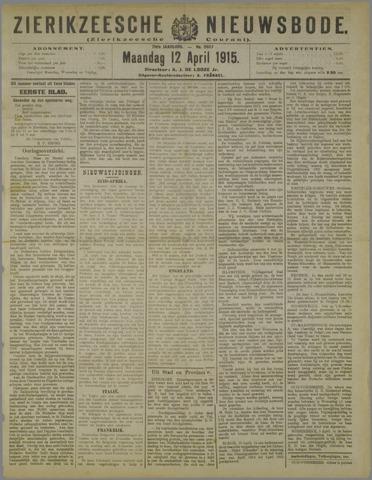 Zierikzeesche Nieuwsbode 1915-04-12