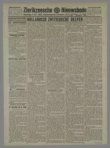 Zierikzeesche Nieuwsbode 1933-10-04