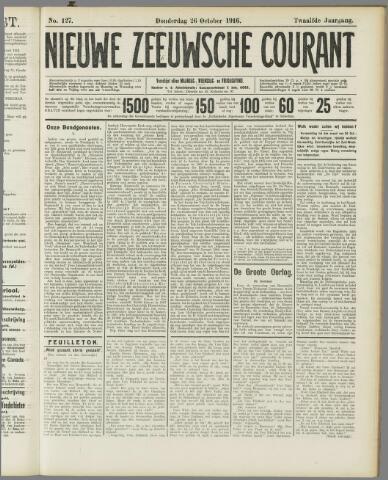 Nieuwe Zeeuwsche Courant 1916-10-26