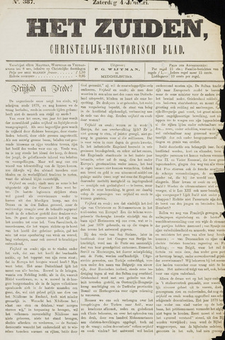Het Zuiden, Christelijk-historisch blad 1879