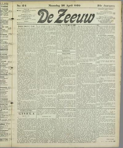 De Zeeuw. Christelijk-historisch nieuwsblad voor Zeeland 1920-04-26