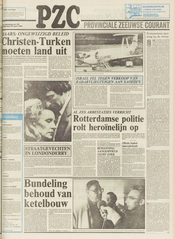 Provinciale Zeeuwse Courant 1981-04-23