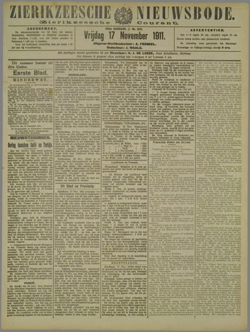 Zierikzeesche Nieuwsbode 1911-11-17