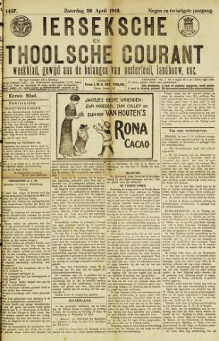 Ierseksche en Thoolsche Courant 1913-04-26