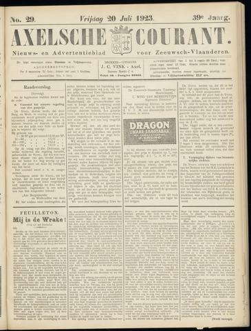 Axelsche Courant 1923-07-20