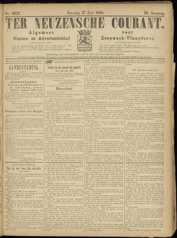 Ter Neuzensche Courant. Algemeen Nieuws- en Advertentieblad voor Zeeuwsch-Vlaanderen / Neuzensche Courant ... (idem) / (Algemeen) nieuws en advertentieblad voor Zeeuwsch-Vlaanderen 1896-06-27