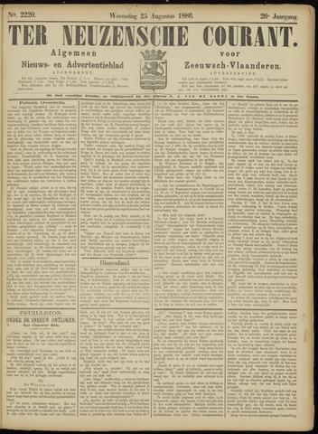 Ter Neuzensche Courant. Algemeen Nieuws- en Advertentieblad voor Zeeuwsch-Vlaanderen / Neuzensche Courant ... (idem) / (Algemeen) nieuws en advertentieblad voor Zeeuwsch-Vlaanderen 1886-08-25