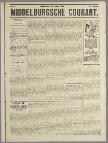 Middelburgsche Courant 1925-04-18